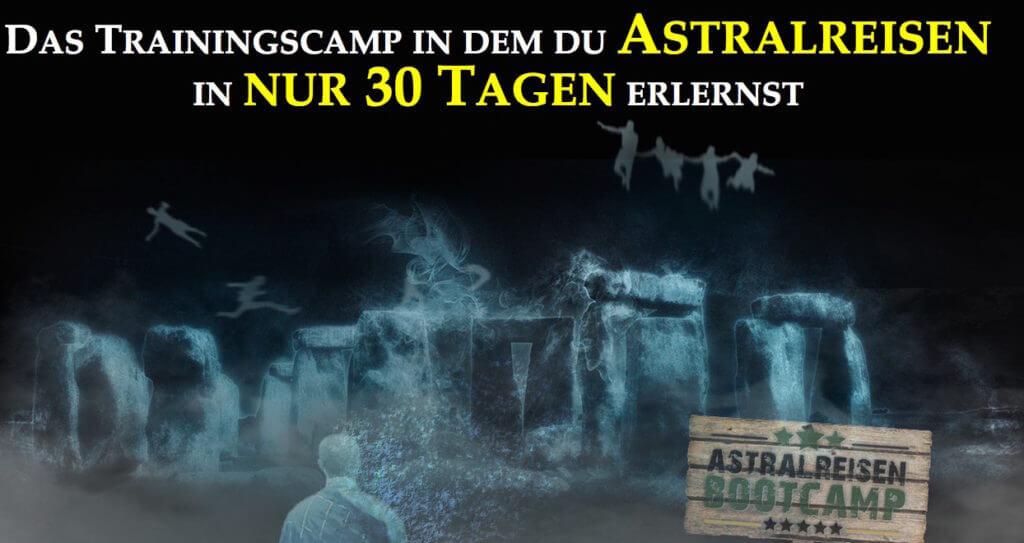 Astralreisen Bootcamp - in 30 Tagen Astralreisen lernen. Banner.