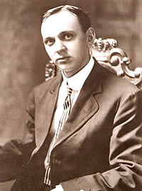 Edgar Cayce im Oktober 1910, als sein Foto auf der Titelseite der New York Times war.
