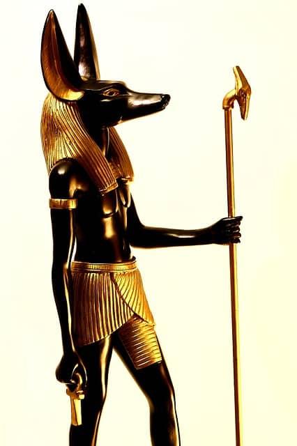 Abbild von Gott Anubis.