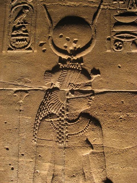 Wandbild im Tempel der Isis.