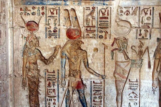 Wandbild in einem ägyptischen Grab.