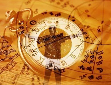 Astrologie in der Zeit-Achse