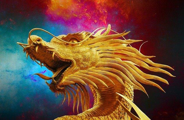 Ein Drache voller Drachenenergie.