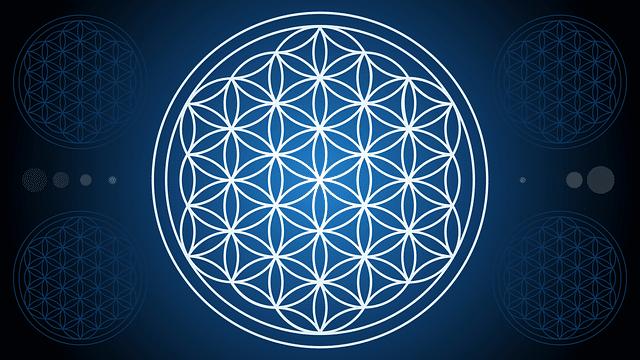 Heilige Geometrie - Die Blume des Lebens.